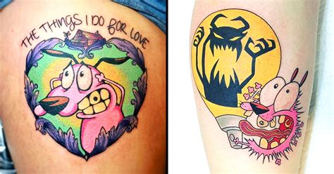 courage the cowardly dog tattoo the things i do for courage the cowardly tattoos