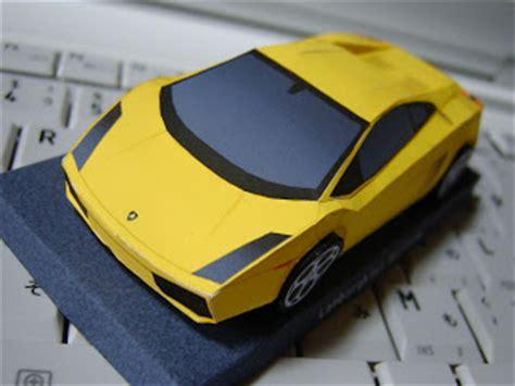 Make My Own Lamborghini Make Your Own Paper Gallardo Model 6speedonline