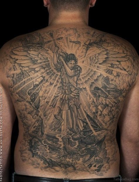 tattoos on back 54 graceful religious tattoos on back
