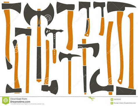 axe types different types of axes stock vector image 55976343