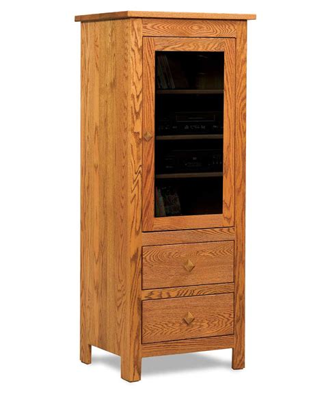 Stereo Furniture Cabinets by Mission 1 Door 2 Drawer Stereo Cabinet Amish Direct