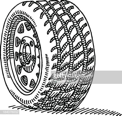 car wheel drawing vector art getty images