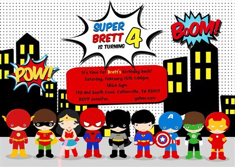 printable birthday cards superhero free superhero birthday party invitation templates