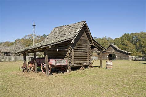 Log Cabin Barns log cabin and barn photograph by charles beeler