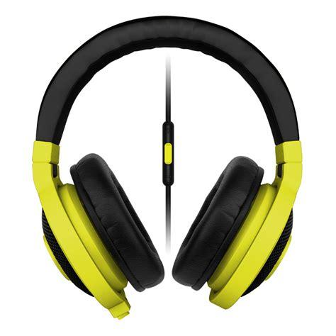 Razer Kraken Neon Yellow razer kraken mobile analog gaming headset neon