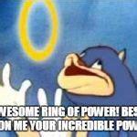 Sonic Rings Meme - sonic derp meme generator imgflip