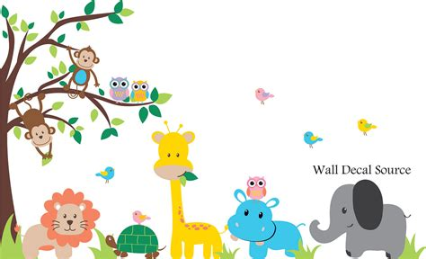 jungle tree wall stickers jungle tree wall decal nursery vinyl wall decal wall