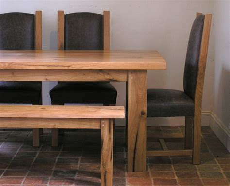 Handmade Oak Dining Tables - bespoke oak dining table handmade oak table