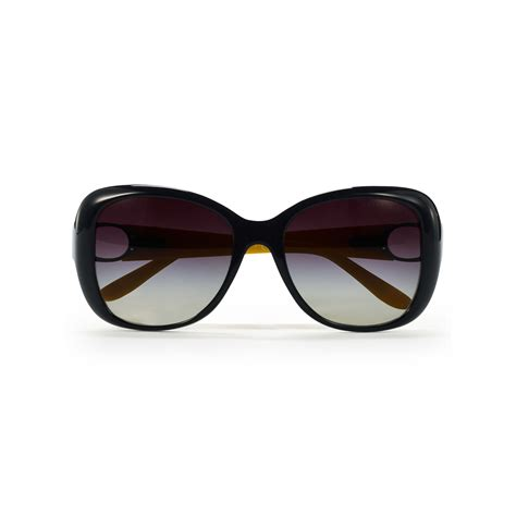 Square Oversized Sunglasses Black pink pony oversized square sunglasses in black lyst