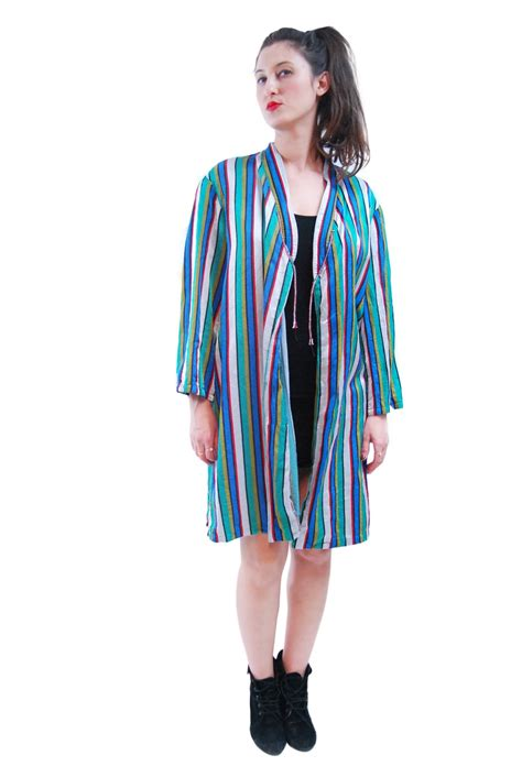 color mix striped vintage jacket for 1970s