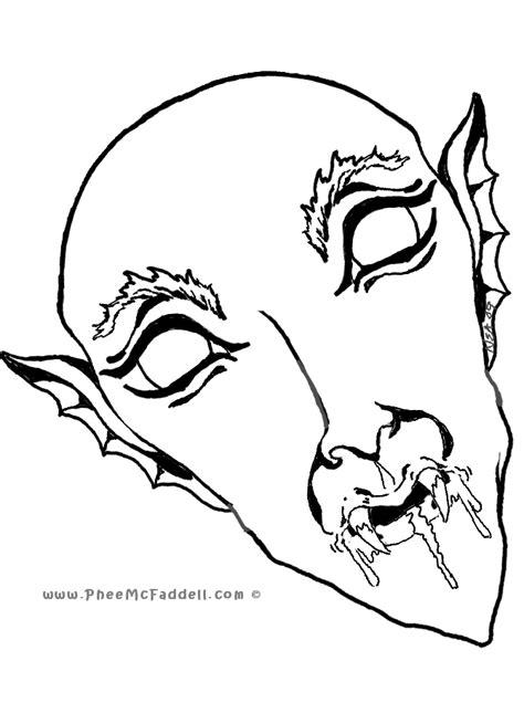 printable dracula mask masks coloring pages coloring home