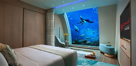 Hotels With Aquariums In The Room by Living The Sea Suites At Singapore S Resort
