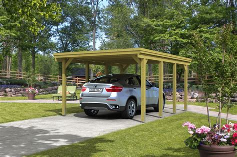 carport onlineshop holz carport skanholz 171 holstein 187 flachdach einzelcarport