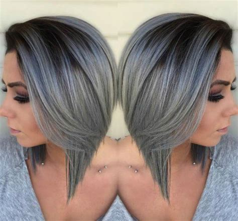 short ombre bob beautiful silver ombre hairstyles for short hair ombre