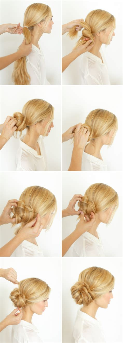 Wedding Hair Bun Tutorial by Diy Knotted Bun Wedding Hairstyle Wedding Hair Updo Ideas