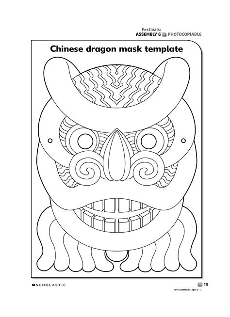 new year lantern craft template printable new year masks mask