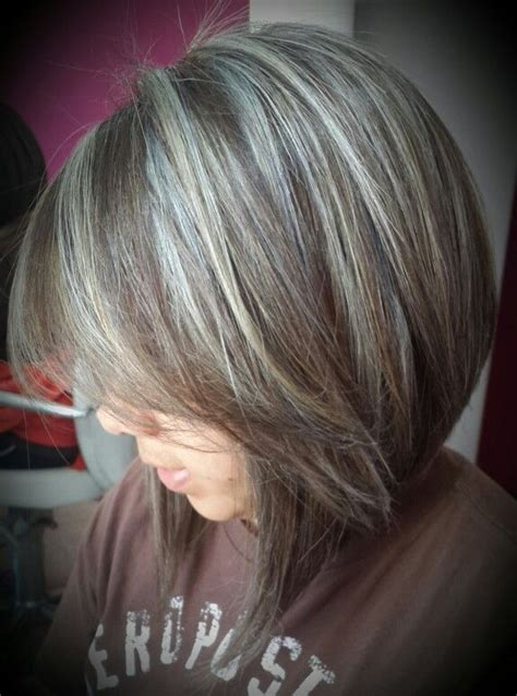 hoghtlighting hair with gray highlighting hair to transition to gray