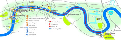 river thames attractions map map of london tourist attractions sightseeing tourist tour