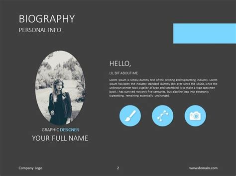 biography exle ppt do you need a presentation about your skills check out