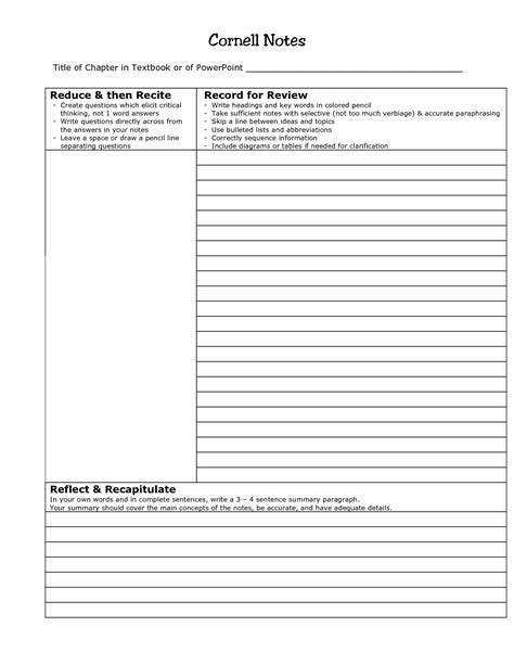 cornell notes template aplg planetariums org