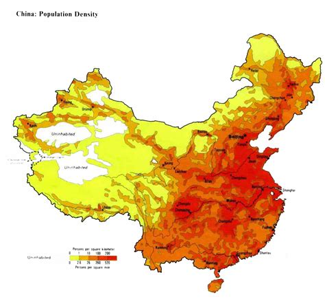 population density map china population map 2011 2012 population density maps china asia world