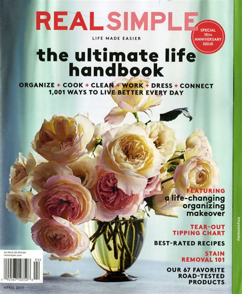 real simple magazine simplifying women s lives for 15 years a real simple