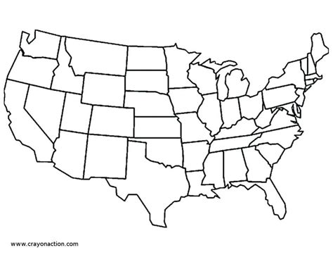 blank coloring page of the united states us map and capitals printable map of north south america