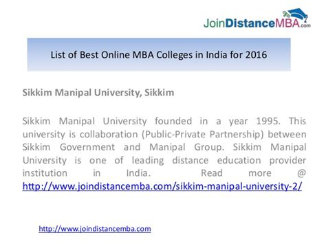 Manipal For Mba 2016 by List Of Best Mba Colleges In India For 2016