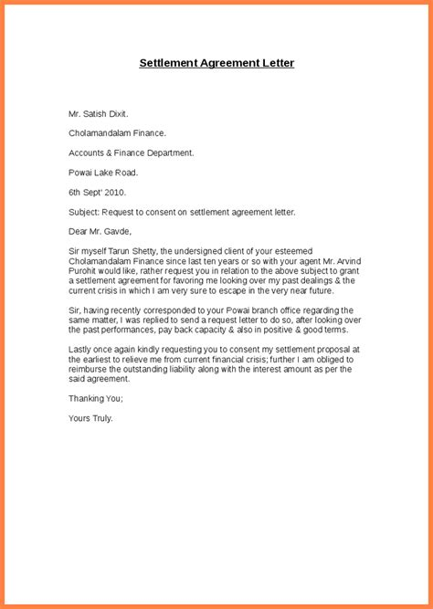 Divorce Settlement Letter 8 Financial Settlement Agreement Template Purchase Agreement