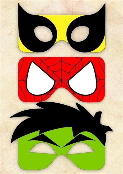 printable hulk mask template superhero mask cut out 2 wolverine spiderman hulk