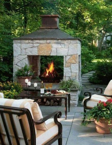 two sided easy fireplace concept everything outside
