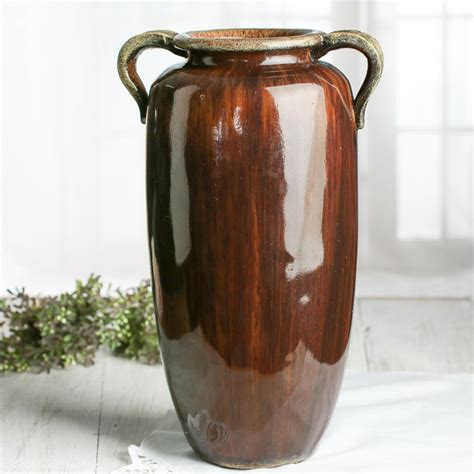 Brown Vases by Brown Ceramic Hora Vase New Items