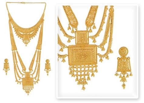 wedding gold set gold bridal set ajns51210 22k gold bridal set with intricate filigree cuts and