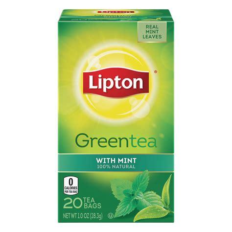 Teh Lipton Green Tea green tea with mint