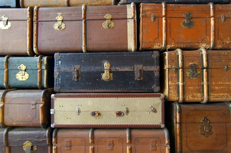 Photography Wall Stickers old suitcases in a stack our great photos