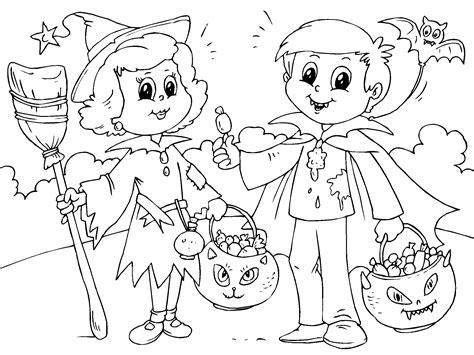 imagenes halloween para niños preescolar ninos en halloween para imprimir paracolorear net