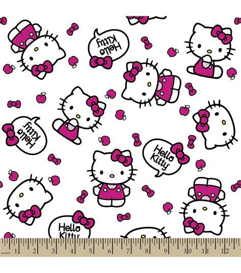 Joann Home Decor Fabric by Sanrio Hello Kitty Print Fabric Quote Jo Ann