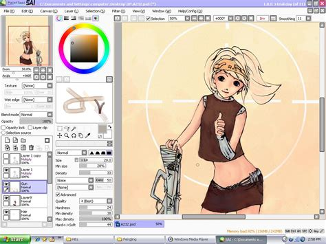 Easy Paint Tool Sai Portable Soft Air