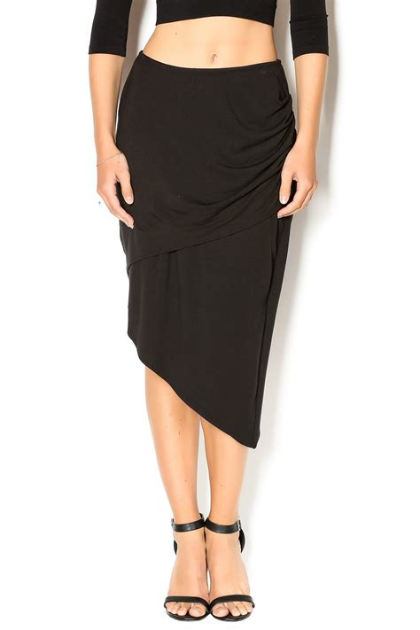 drape skirt lysse asymmetric drape skirt from west virginia by indie