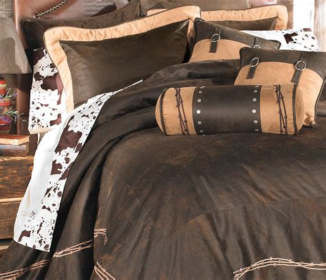 Cowhide Comforter Set by Western Bedding Cowhide Sheet Sets Lone Western Decor