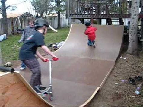 building a halfpipe in your backyard homemade halfpipe youtube