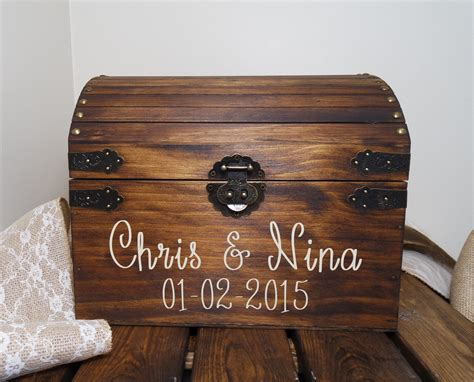 Wedding Card Chest by Rustic Wooden Chest Wedding Card Box Wedding Card Placement