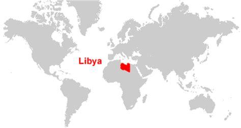 libya on the world map libya map and satellite image