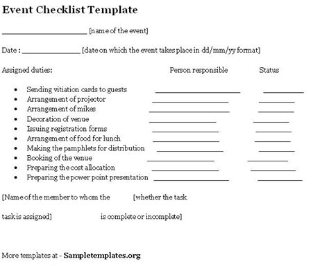 event template html wedding planner wedding checklist word doc
