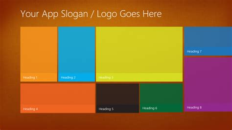 Windows App Templates windows phone 8 metro ui style you ll get the powerpoint