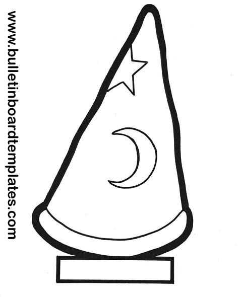 Wizard Hat Outline by Wizard Hat School Stuff Bulletin Board And School