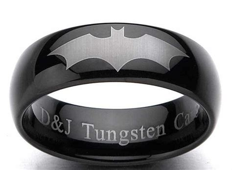 black batman wedding ring batman wedding