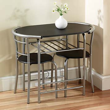 compact space saving table  chairs dining set grattan