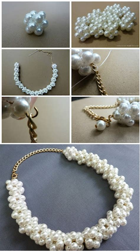 diy bead jewelry pearl necklace diy alldaychic