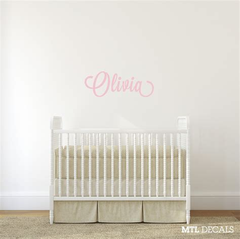 Personalized Name Wall Decals For Nursery Name Wall Decal Nursery Wall Sticker Personalized Vinyl Lettering Mtl Decals